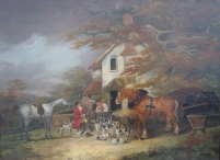 The Return from Hunting; with Portrait of Dray Horse, Property of H. Meux