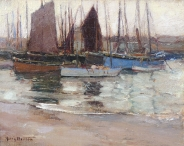 Moored Fishing Boats (St. Ives)