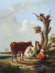 Young Herder with Cattle