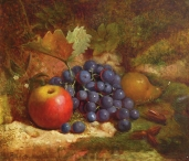 Still Life with Apples, Pears & Grapes
