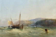 Oyster Boats off Combe Martin