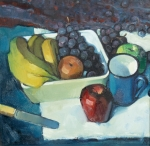 Still Life of Fruit with a Knife on a Table