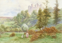 Ludlow Castle from the Meadows