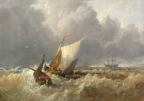 Dutch Boats in a Gale (after Turner)