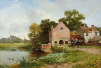 A Mill on the Salwarpe, Worcestershire, David Bates