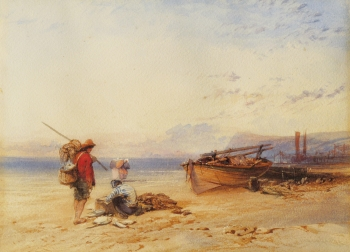 Fishermen on a Beach, Charles Bentley