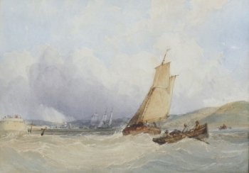 Shipping at the Mouth of a Harbour , Charles Bentley