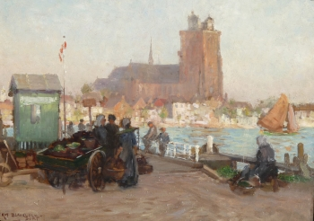 Waiting for the Ferry, Dordrecht , William Kay Blacklock
