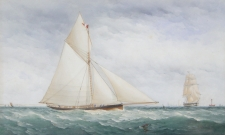 A Straight-stemmed Cutter Racing off the South Coast