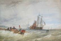 Fishermen and Shipping off the Coast