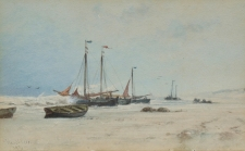 A Fishing Fleet Beaching