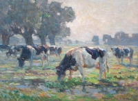Cattle Grazing in a Landscape