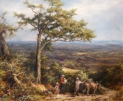 Travellers in a Wooded Landscape