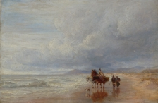 Horses & Figures on a Beach