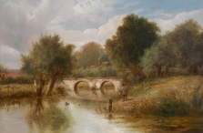 River Landscape with Angler