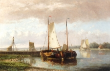 Boats in a Dutch River Landscape 2