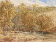 Fisherman on the Wharfe near Barden Tower