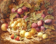 Still Life, Fruits on a Mossy Bank