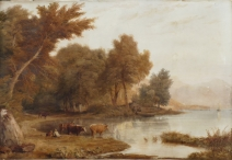 Cattle watering by an Estuary