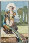Lady with Peacock