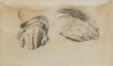 Study of hands for a portrait of Lord Kelly (Kellie)