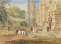 Haddon Hall, the Entrance, 1420