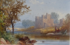 Anglers near a Castle