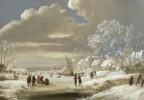 Winter Scene on a Frozen River