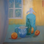 Still Life in Blue, Orange and Yellow