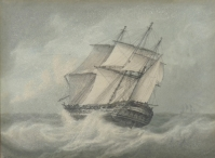 Frigate in a Gale