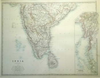 India Southern Sheet with inset of Burma
