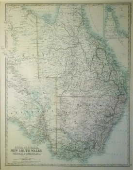 South Australia, New South Wales, Victoria & Queensland with inset of Cape York Peninsula