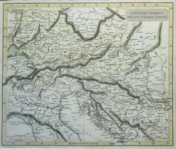 Antique Maps | Europe | Southern Germany with parts of ...