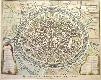 Plan of Bruges one of the principal cities of Flanders