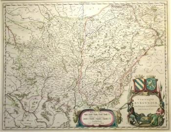 France, Burgundy; original hand colour