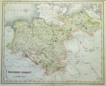 Antique Maps Europe Northern Germany