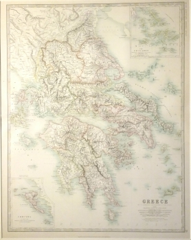 Greece with inset of Corfu (Corcyra)