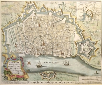 Antwerp Map Europe.Antique Maps Europe Plan Of The City Of Antwerp