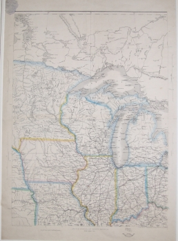 United States of North America, north central sheet, original hand colour