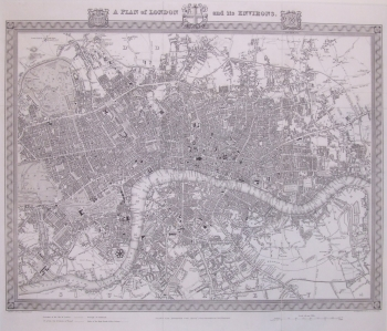A Plan of London & it's Environs
