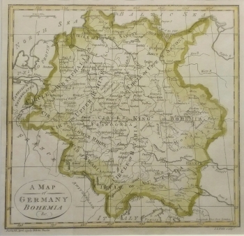 A map of Germany, Bohemia etc. by Dr John Trusler
