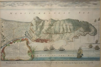 Plan of the Town and Fortifications of Gibraltar, exactly taken on the spot in the year 1738