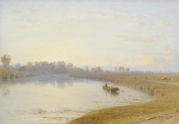 On the Thames near Bray, George Arthur Fripp