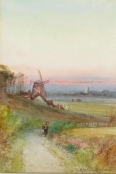 Sunset near Norwich, John Reginald Goodman