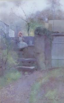 Girl Resting on Steps, Carleton Grant