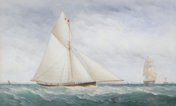 A Straight-stemmed Cutter Racing off the South Coast, Charles Taylor Junior