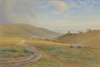 A View towards Hastings, Sussex, Alfred Fitzwalter Grace