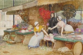 The Flower Market, Robert Walker  Macbeth