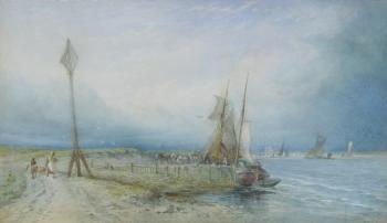 Fishermen Landing their Catch, Thomas Sewell Robins