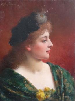 Portrait of an Elegant  Woman, Jules Frederick Ballavoine